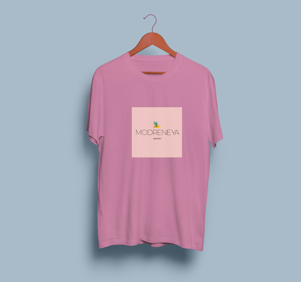 T-Shirt-rose-logo